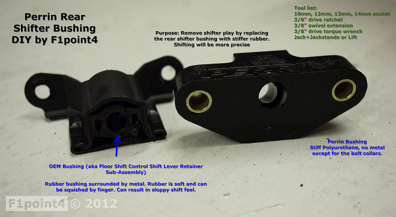 How to install the Perrin rear shifter bushing | Houston 86 Club